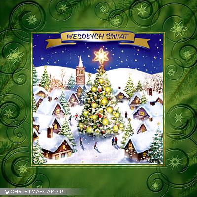 kartka świąteczna tłoczona bn 01.2