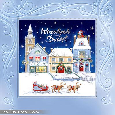 kartka świąteczna tłoczona bn 01.03