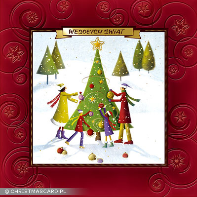 kartka świąteczna tłoczona bn 01.04