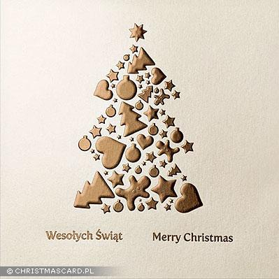 kartka świąteczna tłoczona bn 01.05