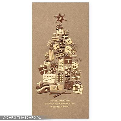 kartka świąteczna złocona bn 03.01