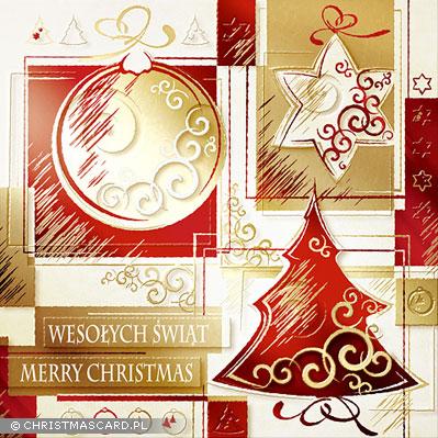 kartka świąteczna złocona bn 03.02