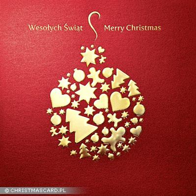 kartka świąteczna złocona bn 03.03