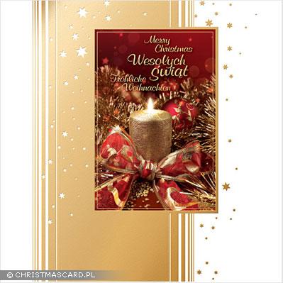 kartka świąteczna złocona bn 03.06